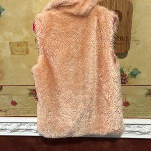 Betsey Johnson Jackets & Coats - Betsey Johnson pink fuzzy vest